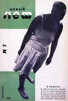 Redesigned Novyi Lef cover by Rodchenko, Russian Constructivist 1928.