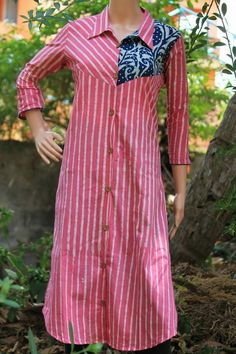 Kurta Biba Fashion, Indian Fashion, Kurta Designs Women, Blouse Designs, Collar Kurti, Kurtha Designs, Indigo Dress, Kurta Neck Design, Kurti Patterns