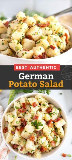 Making Potato Salad, Homemade Potato Salads, Red Potato Recipes, Potato Salad Dressing, Warm Potato Salads, German Potato Salads, German Potatoe Salad Recipe, Easy Potato Salad Recipe, Recipes With Red Potatoes