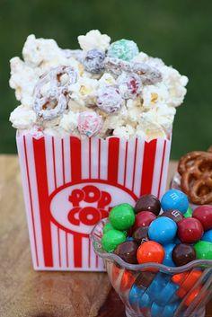 White Chocolate Popcorn Snack Mix