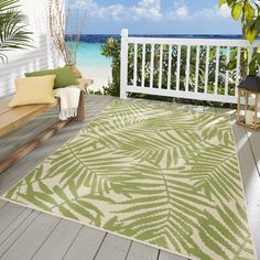 (Sponsored Link) Mainstays Palm Indoor/Outdoor Area Rug, x Outdoor Carpet, Indoor Outdoor Area Rugs, Outdoor Areas, Outdoor Decor, Outdoor Rooms, Outdoor Living, Hanging Swing Chair, Turquoise Rug, Patio Table