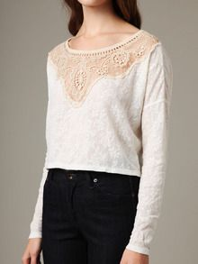 Free People  Candy Lace Crop Top