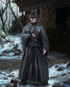 Artwork done for Samurai Forge Client: Deep Arrow Studio Arte Ninja, Ninja Art, Fantasy Character Design, Character Art, Fantasy Warrior, Fantasy Art, Amaterasu, Ronin Samurai, Samurai Wallpaper