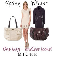 """""""Miche - One bag, endless looks!"""" by miche-kat on Polyvore Www.joanne.miche.com"""