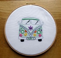 Hand Embroidery: Campervan, Owl, Heart | Craftsy