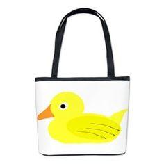 Yellow Duck Bucket Bag