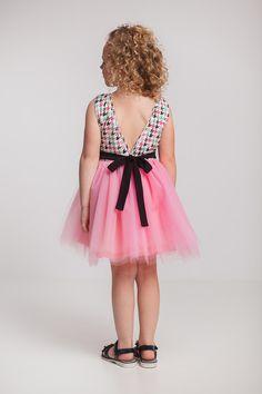 Sukienka tiulowa - gołe plecy - Ynlow-Designed - Sukienki dla dziewczynek