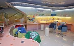Related image Kids Salon, Kids Spa, White Granite, Barber Shop, Salons, Loft, Bed, Image, Ideas