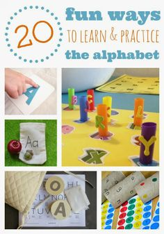 20 Fun Ways to Learn and Practice the Letters of the Alphabet