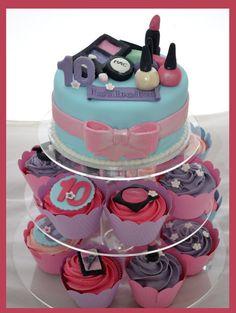 Little Girl Makeup Cake