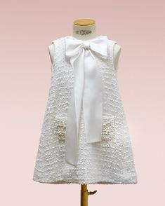 Bibiona new collection dress with boucle textile #baby #couture #childcouture #Bibiona