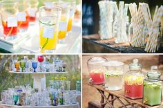 Gorgeous ceremony drink stands :) We will be doing something similar to this