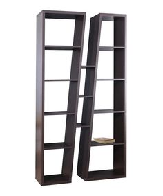 Look at this Walnut Slanting Reversible Bookshelf on #zulily today!