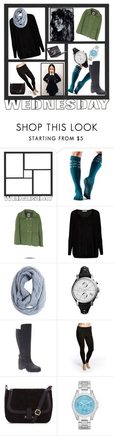 """""""Wednesday Adams"""" by cirlylocks ❤ liked on Polyvore featuring ToeSox, M Missoni, Century Seven, Muk Luks, FOSSIL, Lane Bryant, Boom Boom Jeans, Magdalena, Lenovo and plus size clothing"""