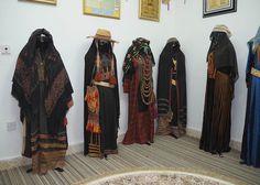 Traditional Bedouin women's clothes of Saudi Arabia