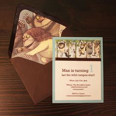 I will now decorate the inside of every envelope for every party invitation!  Great idea.