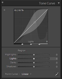 Creating a matte look with the Tone Curve in Lightroom