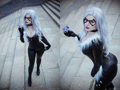 Black Cat by Asami Gate (Yulia Shuenkova) @ vk.com/asami_gate - More at https://pinterest.com/supergirlsart #asamigate #yuliashuenkova #hot #sexy #cosplay #girl #cosplaygirl #blackcat #marvel