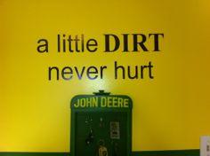 Fun John Deere room idea! #alittledirt #uppercaseliving #vinyl #johndeere