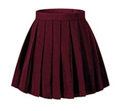 Women High Waist Pleated Skirt Mini Skirts School Uniform Plaid Skirt Cosplay Costumes Size S Color Navy Blue Mode Outfits, Skirt Outfits, Dress Skirt, Fashion Outfits, Red Pleated Skirt, Cute Skirts, Plaid Skirts, Mini Skirts, Tumbr Girl