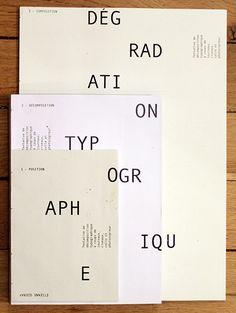 Dégradation Typographique.