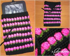 Etui na ebooka - Ebook case Crochet Tulips Bed