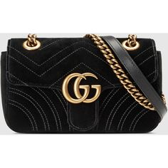 Gucci Gg Marmont Velvet Mini Bag ($1,290) ❤ liked on Polyvore featuring bags, handbags, shoulder bags, black, gucci, oversized shoulder bag, gucci shoulder bag, handle bag, gucci handbags and oversized purses