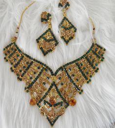 Dazzling Elegant Rhinestone Necklace and by veryfrenchbydesign, $185.00