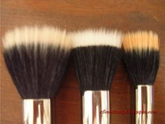 "A DuoFiber, or ""skunk brush"" as some people so lovingly call it. MAC sells one for 42, Sephora sells one for 35, Sonia Kashuk sells one at Target for 13, and there's a brand at Target called Studio Tools that sells a skunk brush for… wait for it… 6."