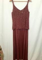 Beautiful Vintage Slinky Rose Dress!