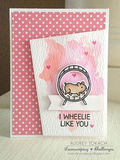 Watercolor Wheelie Like You - love the angled panel