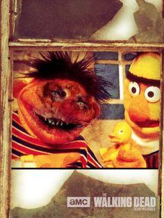 "Sesame Street characters zombified using The Walking Dead ""Dead Yourself"" app"