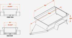 MORV Utility | Manley ORV Company Manley trailer dimensions