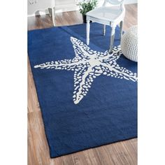 nuLOOM Handmade Indoor/ Outdoor Starfish Blue Rug - Overstock™ Shopping - Great Deals on Nuloom 5x8 - 6x9 Rugs