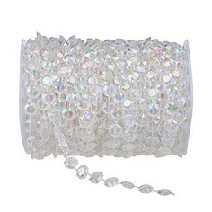 Generic 99 ft Clear Crystal Like Beads by the roll - Wedd... https://www.amazon.com/dp/B004U2V238/ref=cm_sw_r_pi_dp_22-Nxb4EJQSYY