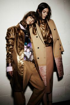 Antonina Petkovic  Kate Bogucharskaia for MSGM Fall Winter 2014.15