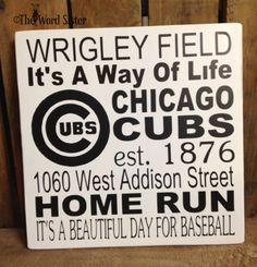 Chicago Cubs FansCUBS Sport Subway Word Art by by TheWordSister, $30.00