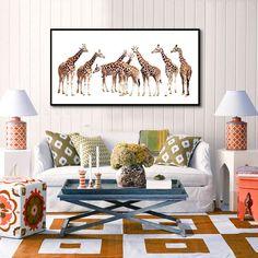 American Decorative Painting Paintings Bedroom Living Room Sofa Background  Painting, Modern Minimalist Giraffe Bedside Painting