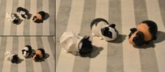 Miniature Guinea Pigs Set of three by angcreations on Etsy, $30.00