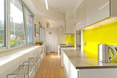 Simple burst of colour brightens a kitchen