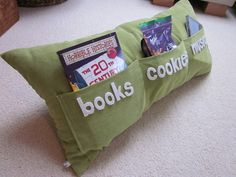 Cookie and Book Pillow - best thing for the cold time of the year.