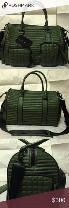 L.A.M.B. EADY HUNTER GREEN DUFFLE BAG PURSE New with tags. Beautiful bag. Genuine leather, high quality! L.A.M.B. Bags Travel Bags