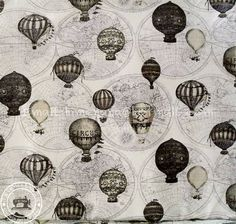 vintage hot air balloons. would be a cool tattoo