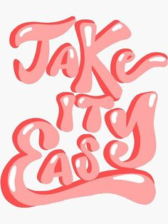 Lettering Fonts Discover take it easy Sticker by glitteryhearts Collage Mural, Bedroom Wall Collage, Photo Wall Collage, Picture Wall, Collages, College Walls, Dorm Walls, Dorm Rooms, Letras Cool