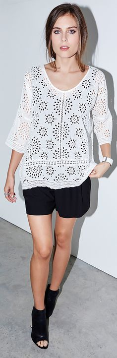 Nothing says warm weather quite like a perfect eyelet top