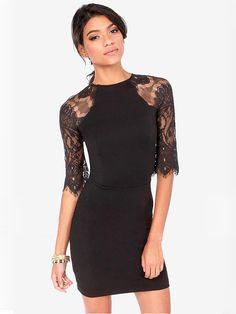 Lace Half Sleeve Sexy Backless Back Zipper Women Dress at Banggood US $20.99