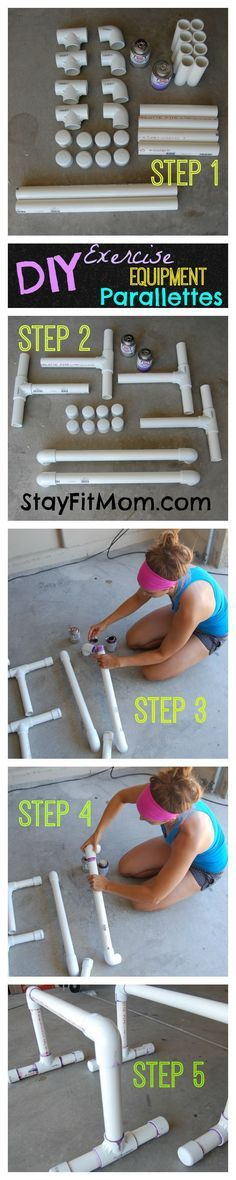 DIY Parallettes and Parallette Workout - Stay Fit Mom