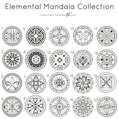 Elemental Mandala Collection. Close your eyes for 3 seconds, then open and chose a Mandala. It will them give details.