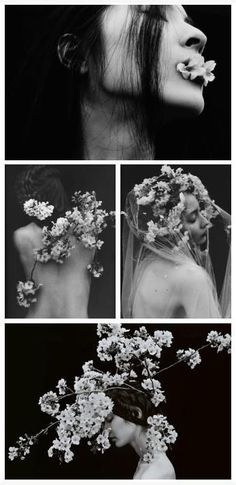 i like the idea of using flowers with bodies, mixing nature and the human form