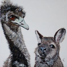 """""""Act Natural Paddy, no one will notice you!"""" by Julie Hollis. Paintings for Sale. Quirky Art, Weird Art, Australian Artists, Paintings For Sale, Online Art Gallery, Original Art, Bird, Natural, Artwork"""